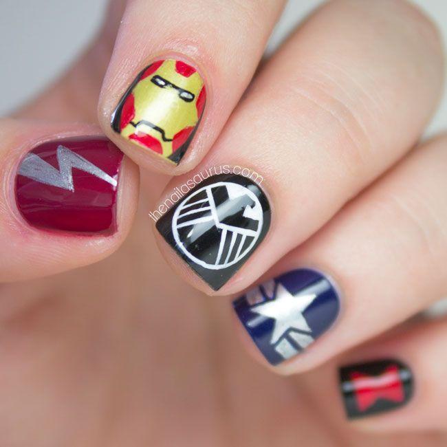 The Lacquer Legion Fandom: Avengers Nail Art | Fandom, Marvel nails ...