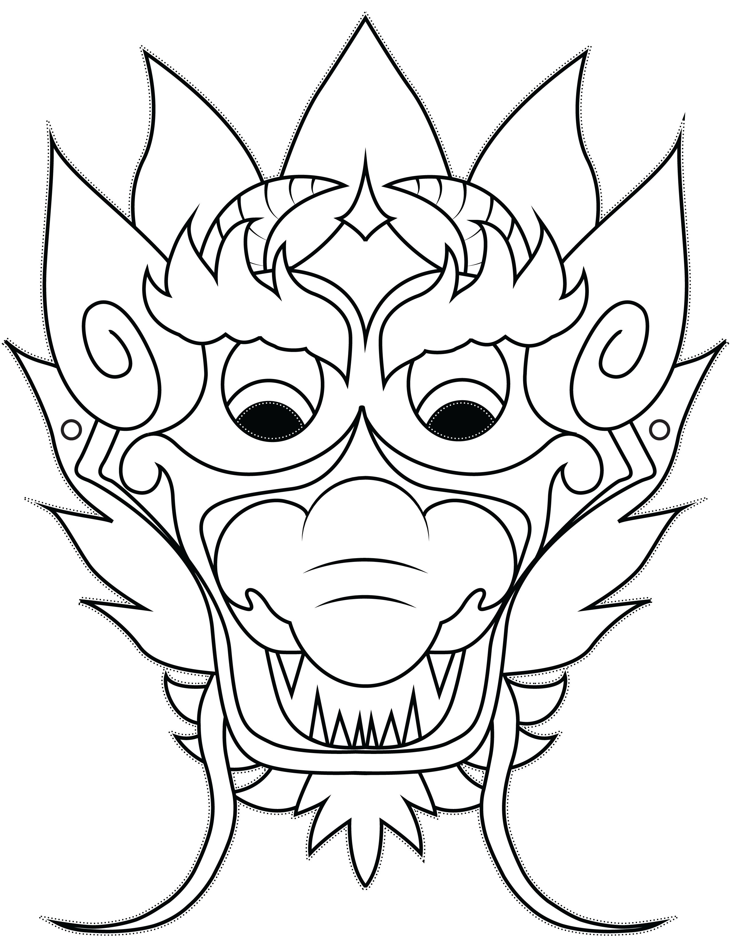 dragon mask simple and easy dragon crafts made from paper clipart best clipart best