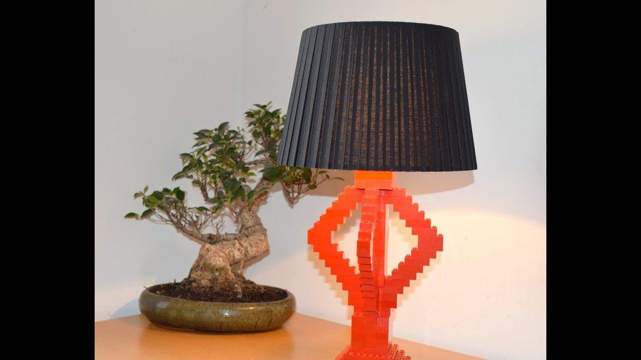 Lampe Aus Legosteinen Selber Machen Diy Lego Lamp Youtube