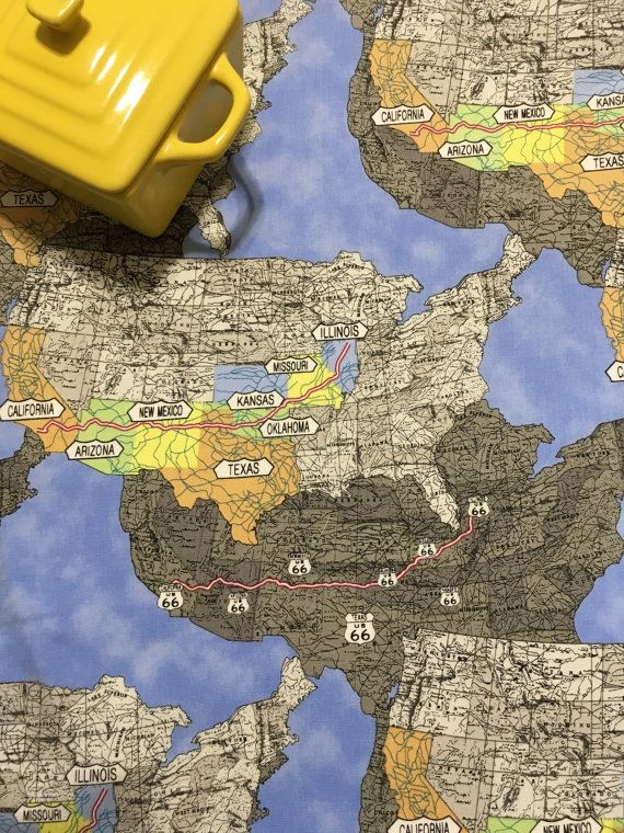Route US Map Dish Drying Mat RV Camper By MakingSomethingHappy - Us rv traveling map