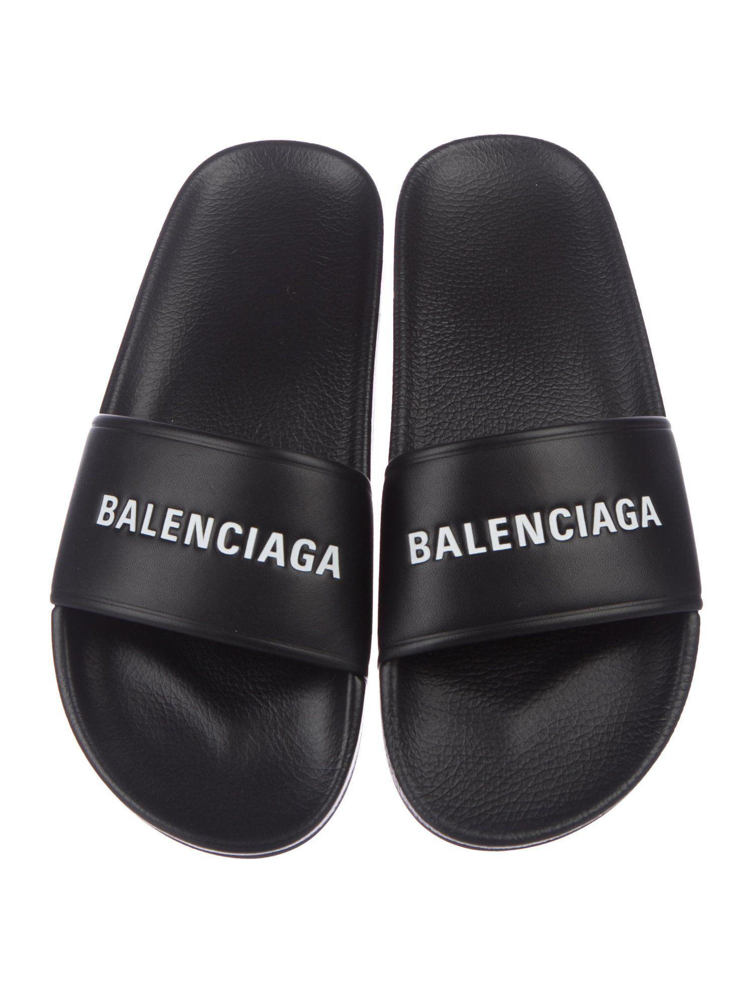 Balenciaga 2018 Pool Logo Sandals