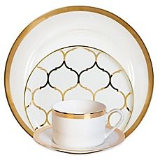 image of Nevaeh White® by Fitz and Floyd® Dinnerware Collection in Gold  sc 1 st  Pinterest & image of Nevaeh White® by Fitz and Floyd® Dinnerware Collection in ...
