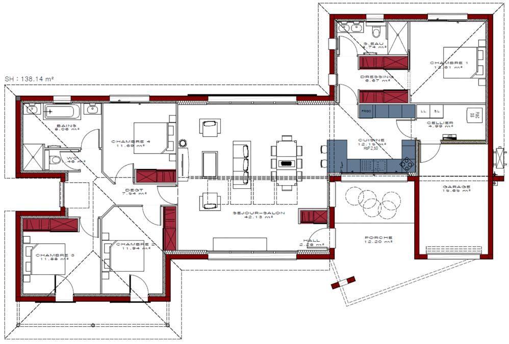 Plans De Maisons Igc Construction Plan Maison Plan Maison Moderne Maison Moderne