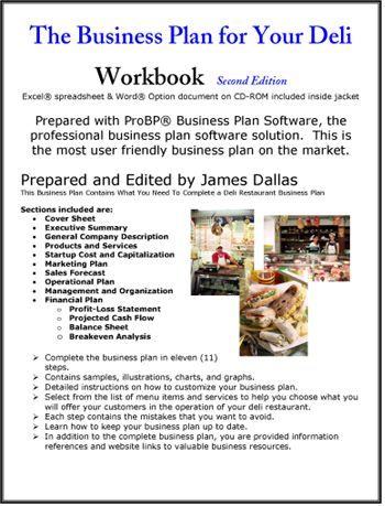 Business Plan For Your Deli  Business Ideas