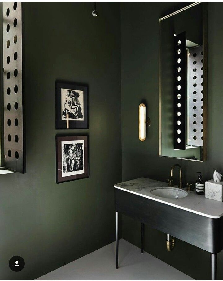 Ten Green Bathrooms That Look Stunning