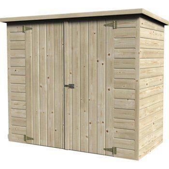 Abri à vélo bois naturelle, l193 x H161 x P98 cm Leroy Merlin - monter un garage en bois