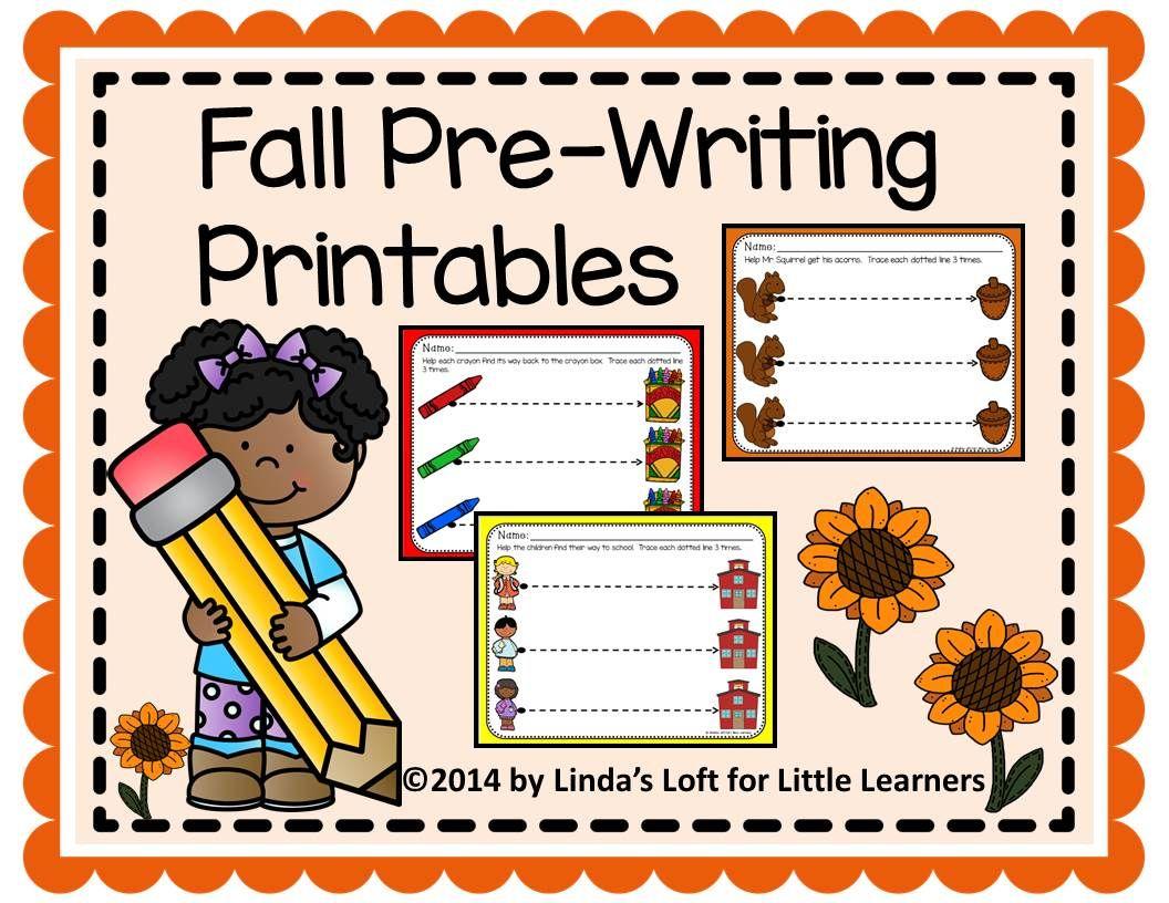 Fall Pre Writing Printables