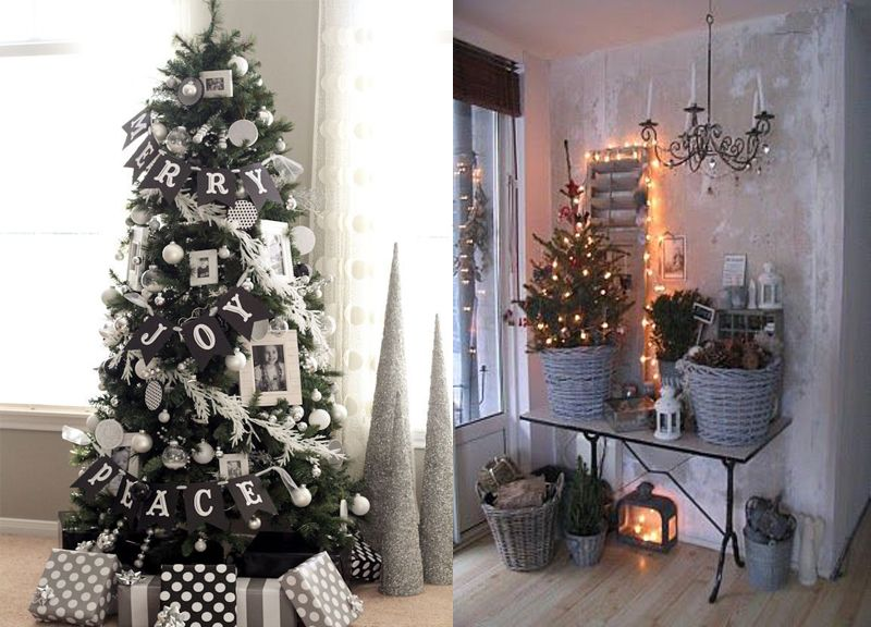 50 id es d corations de no l style scandinave christmas tree xmas and clever. Black Bedroom Furniture Sets. Home Design Ideas