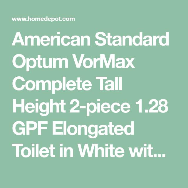 Terrific American Standard Optum Vormax Complete Tall Height 2 Piece Beatyapartments Chair Design Images Beatyapartmentscom