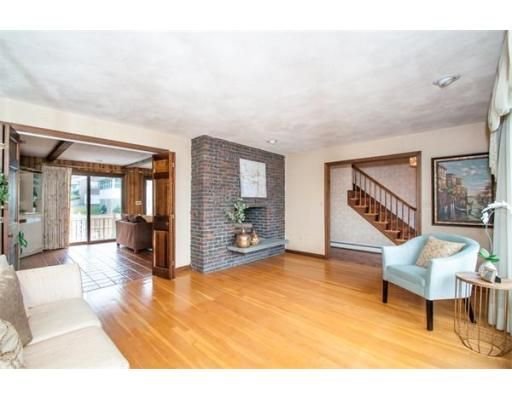Pass thru fireplace, great space for entertaining and plenty of it ...