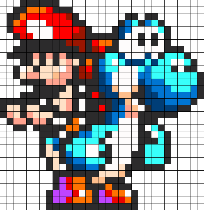 Yoshi And Baby Mario Perler Bead Pattern Bead Sprite