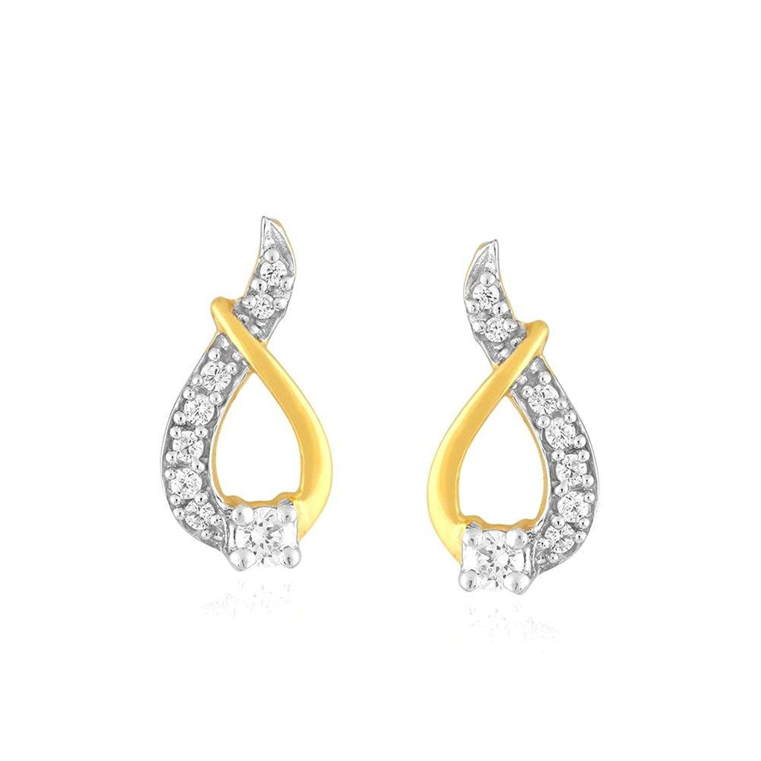 Giantti Women s 14KT Diamond Stud Earring IGL Certified 0 256 Ct
