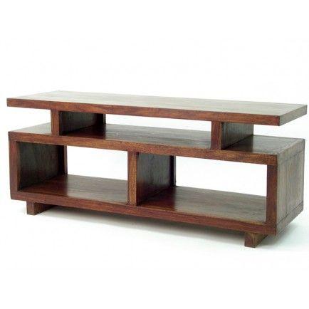 Meuble Tv Design En Palissandre Salon A L Ambiance Zen Mobilier De Salon Meuble Tv Decoration Maison