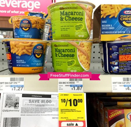 FREE Gold Emblem Abound Mac & Cheese Cups at CVS | Bargains