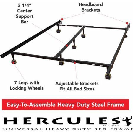 Universal Heavy Duty Adjustable Twin Full Queen King Size Metal