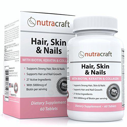 1 Biotin Hair Growth Vitamins Supplement with 5000mcg of Biotin - 27 ...