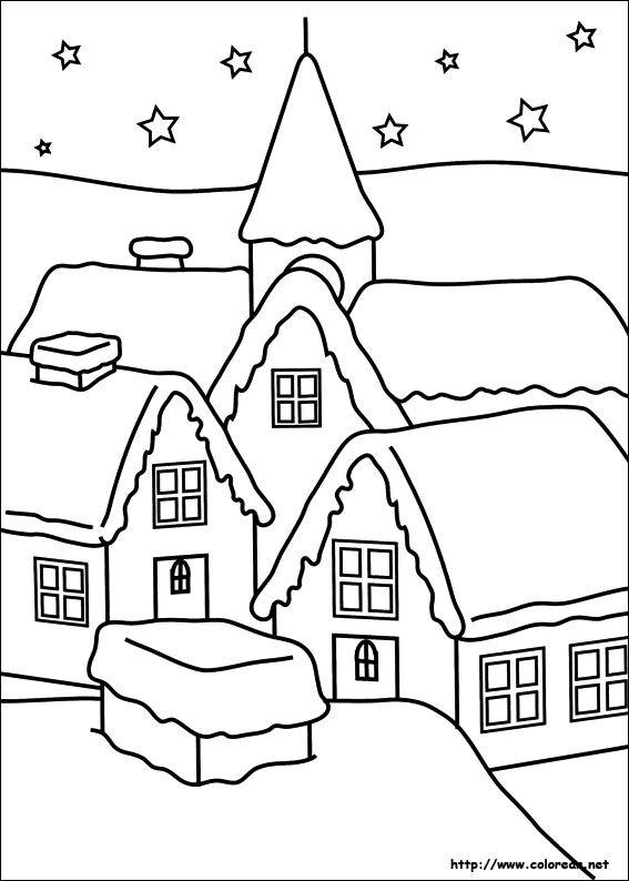 Paisaje Madera Pinterest Navidad Dibujos De Navidad Y Colores