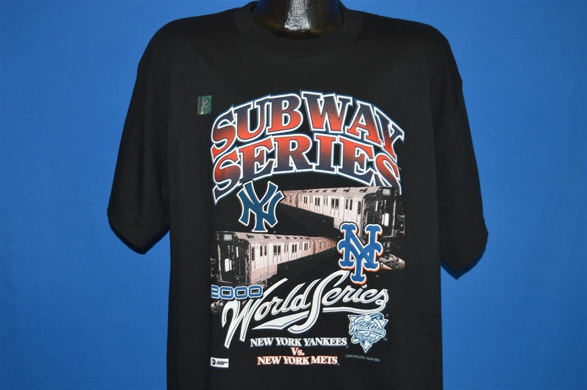 Vintage 2000 World Series New York Mets Yankees Subway T