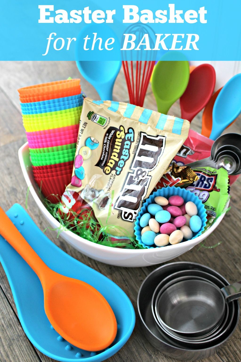 Whos ready for easter make your easter a sweetereaster with how does an easter basket for the baker in your house sound big or small anyone who loves to bake will love this easter basket idea negle Gallery