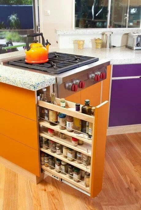 Slide out storage decoraci n casa pinterest cocinas for Regalo muebles de cocina