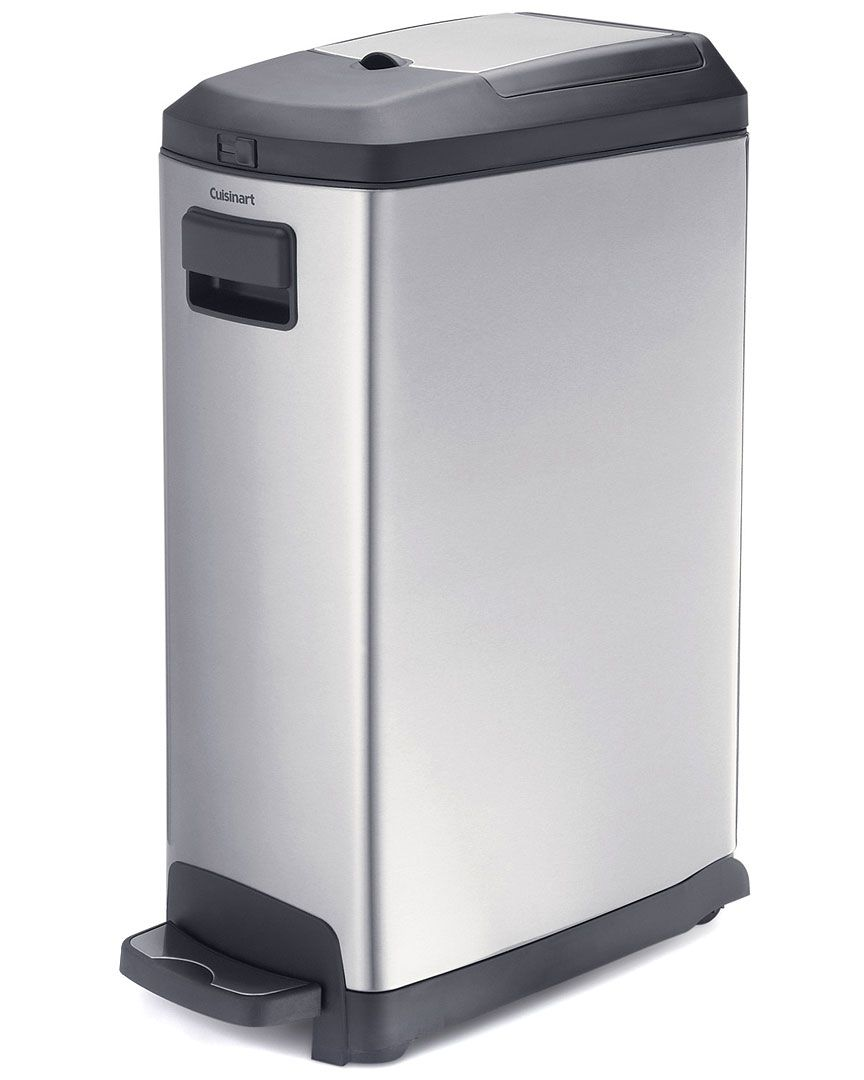 Cuisinart Stainless Steel 9gal Step Garbage Can Home