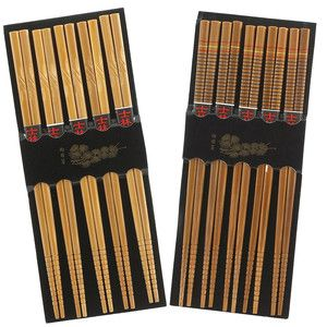 Silk And Engraved Chopsticks Set