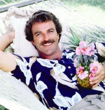 Magnum P. I. in Aloha Hawaiian shirt