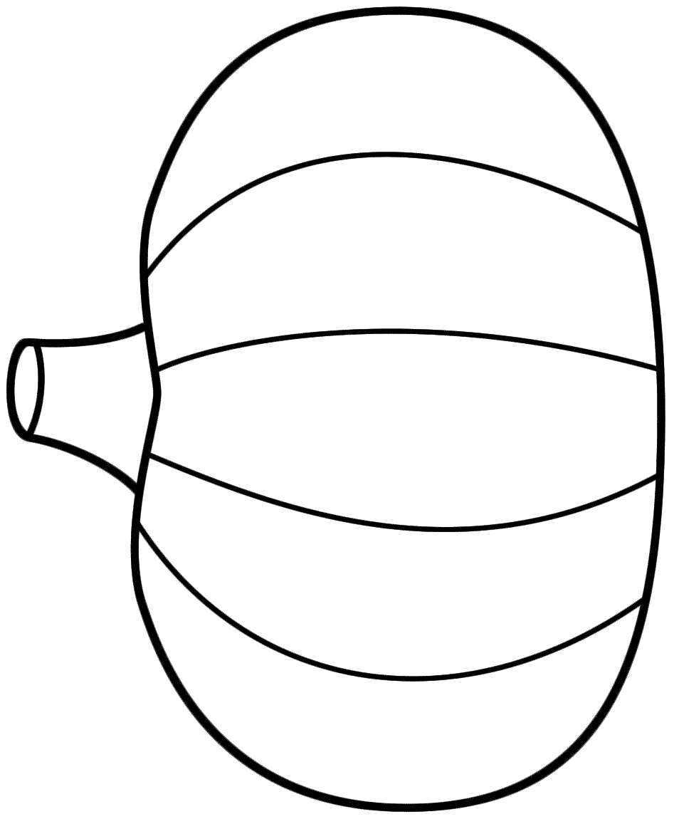 Giant Pumpkin Coloring Page - Coloring Style Pages | Fall ...
