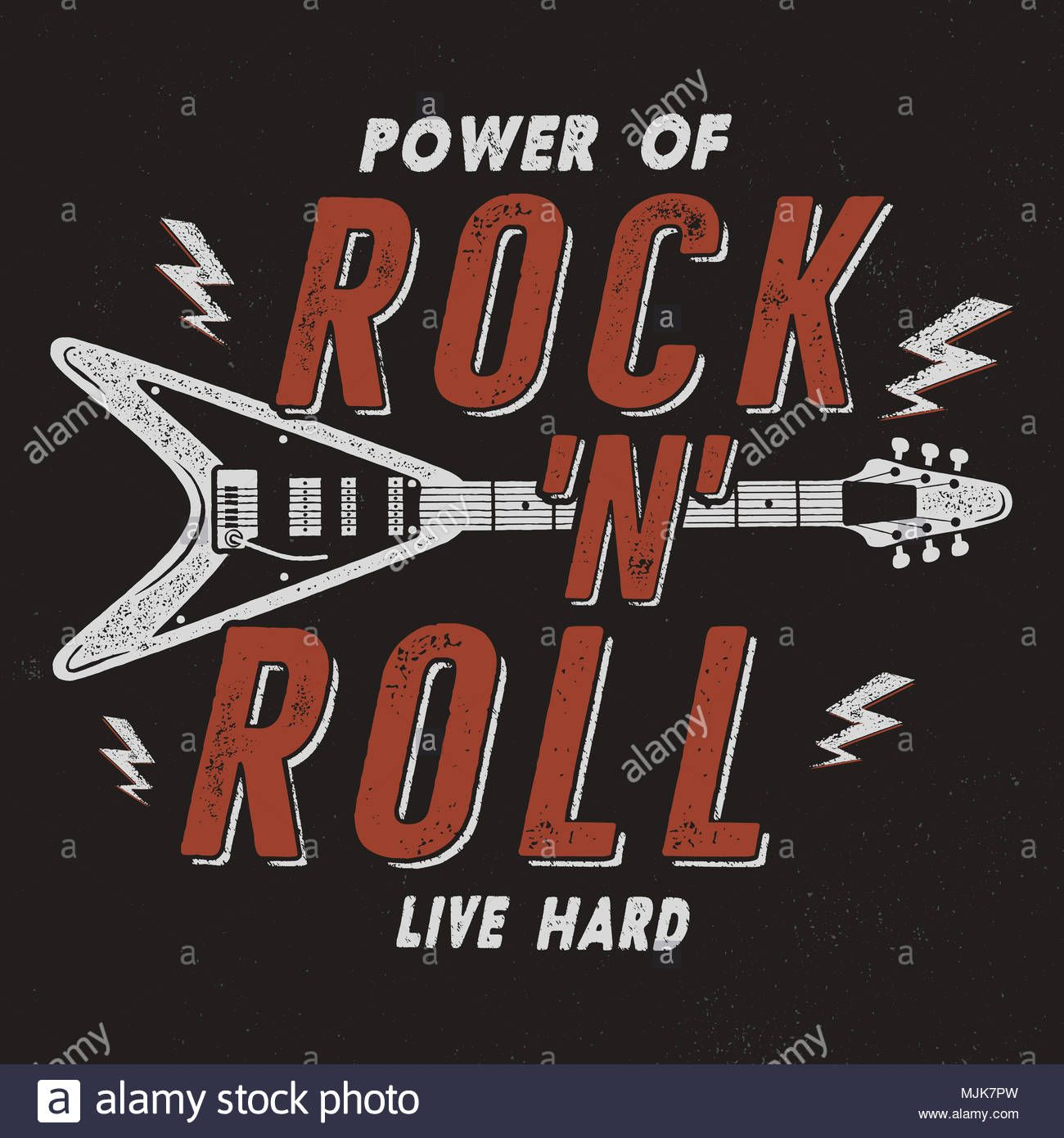 Download This Stock Image Vintage Hand Drawn Rock N Roll Poster Retro Music Background Musical Tee Graphics Desig Retro Music Rock Band Posters Retro Poster