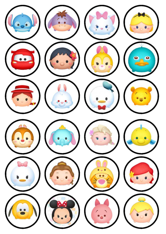 Tsum Tsum Oblea Comestible Papel De Arroz Torta Cupcake Disney