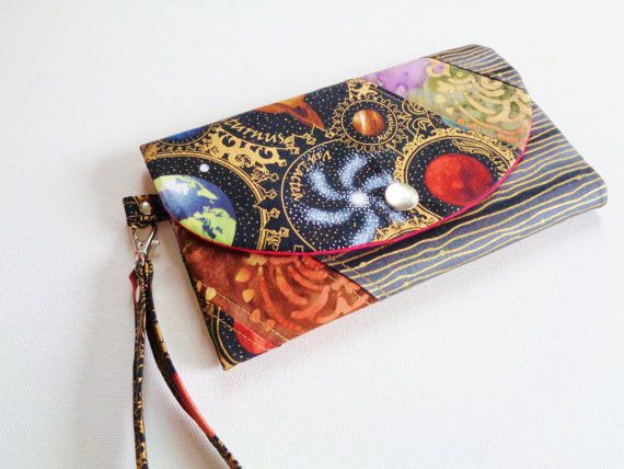 Astronomy solar system wallet  wristlet and by CountingTreasures