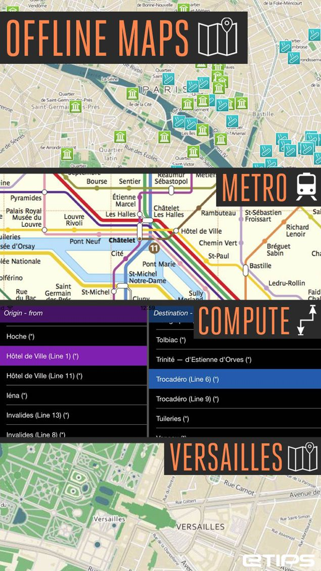 Best Paris Travel App With Your Parismetro Offline Maps Pick Your