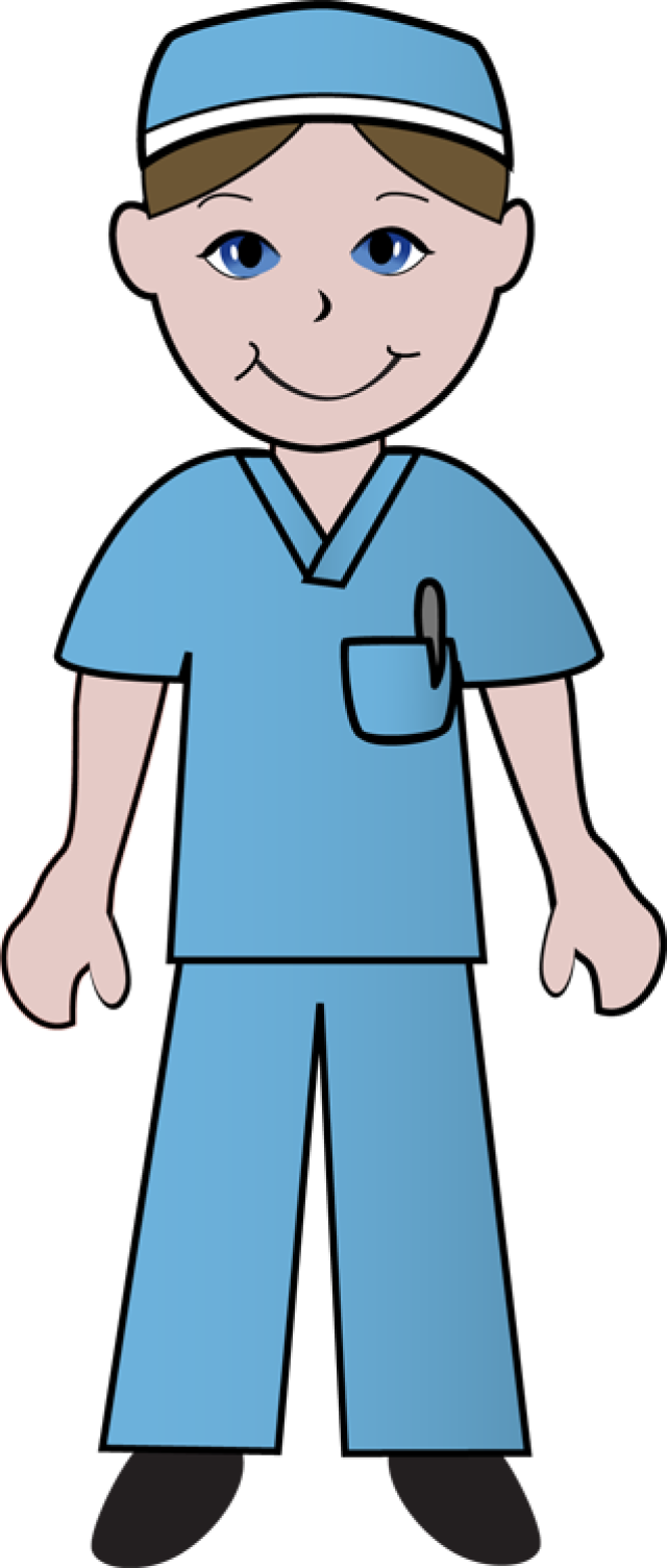 hight resolution of free clip art of doctors and nurses nurse in blue scrubs