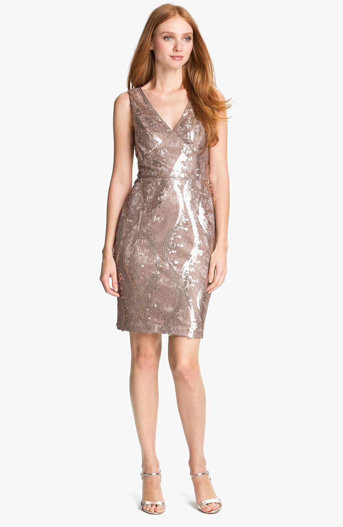 Adrianna Papell Embellished Lace Cocktail Dress | Nordstrom | My ...