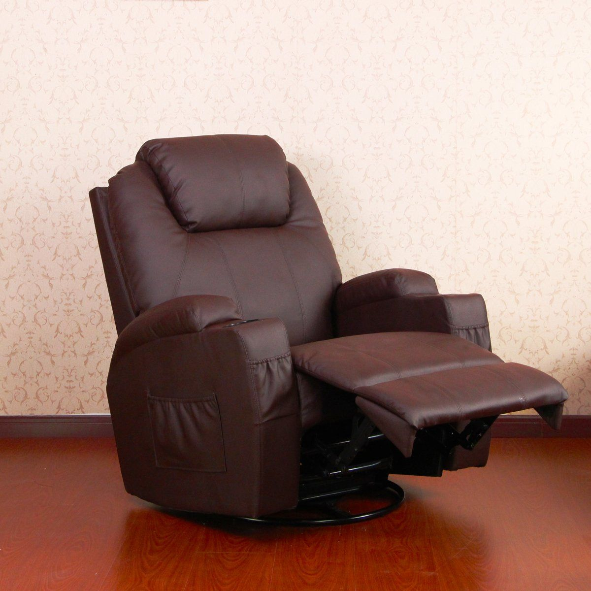 UMAX Heated Massage Recliner Chair PU Leather Ergonomic