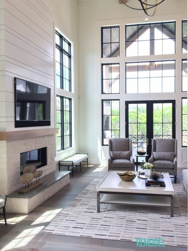 charming empty living room fireplace | Elegant, industrial-inspired, rustic and charming ...