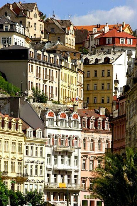 | ♕ |  Classic Bohemian houses in Carlsbad , Czech Republic  |  by © JialiangGao