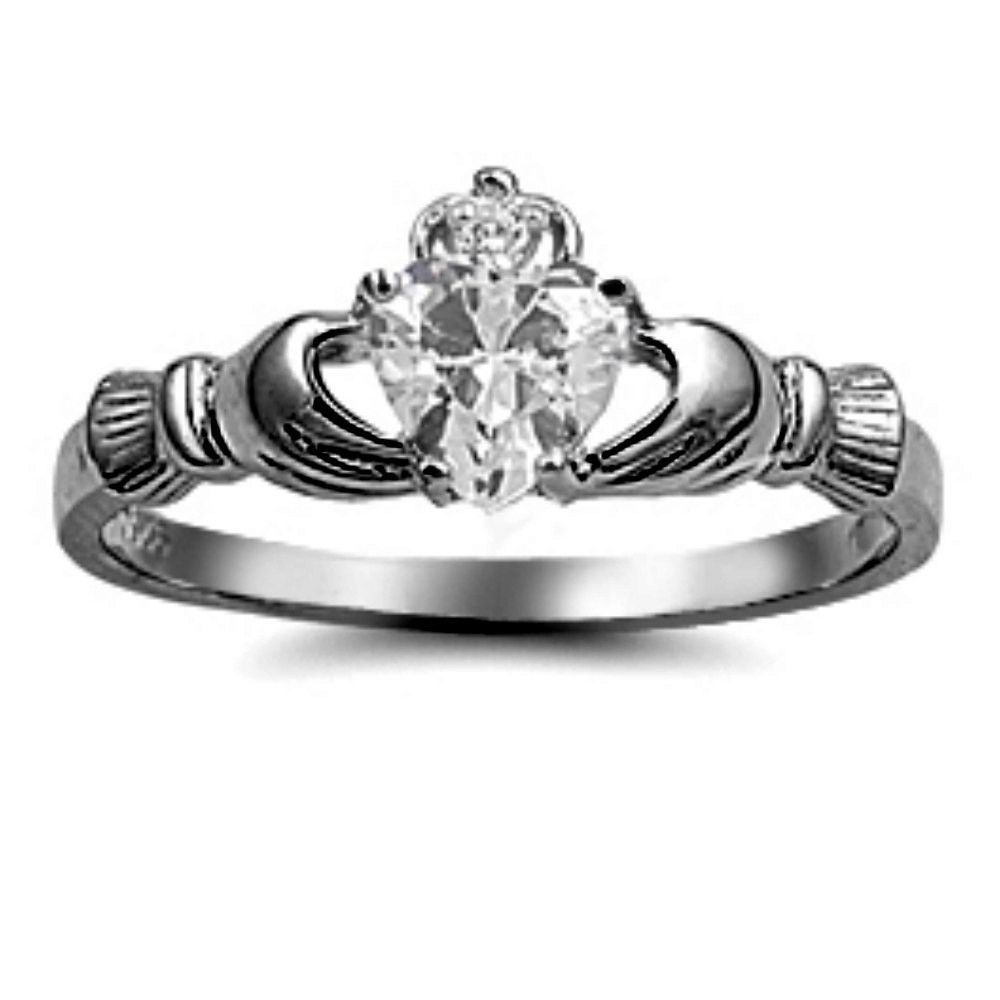 Black gold claddagh 925 sterling silver 075ct russian