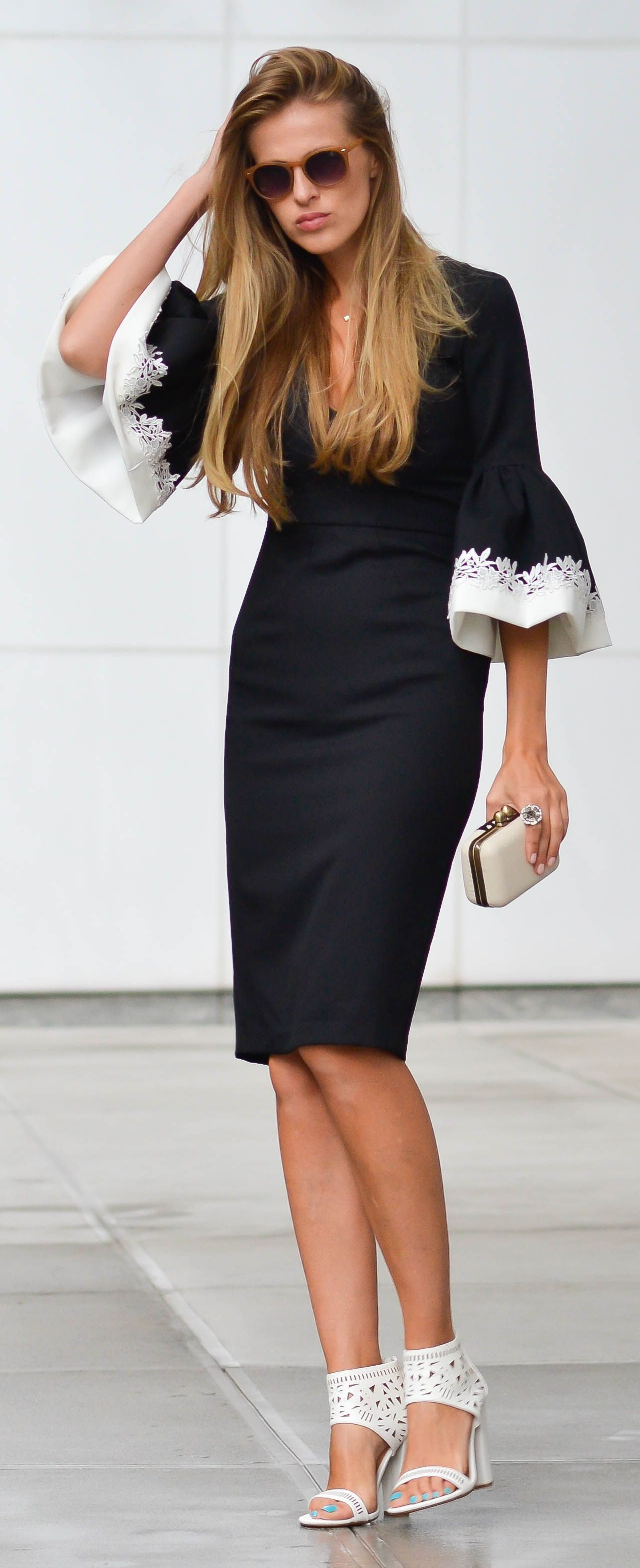 Black And White Glamorous Dress