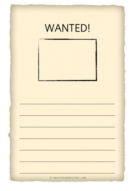 wanted poster template h Early Years EYFS KS1 KS2 Primary – Wanted Poster Word Template