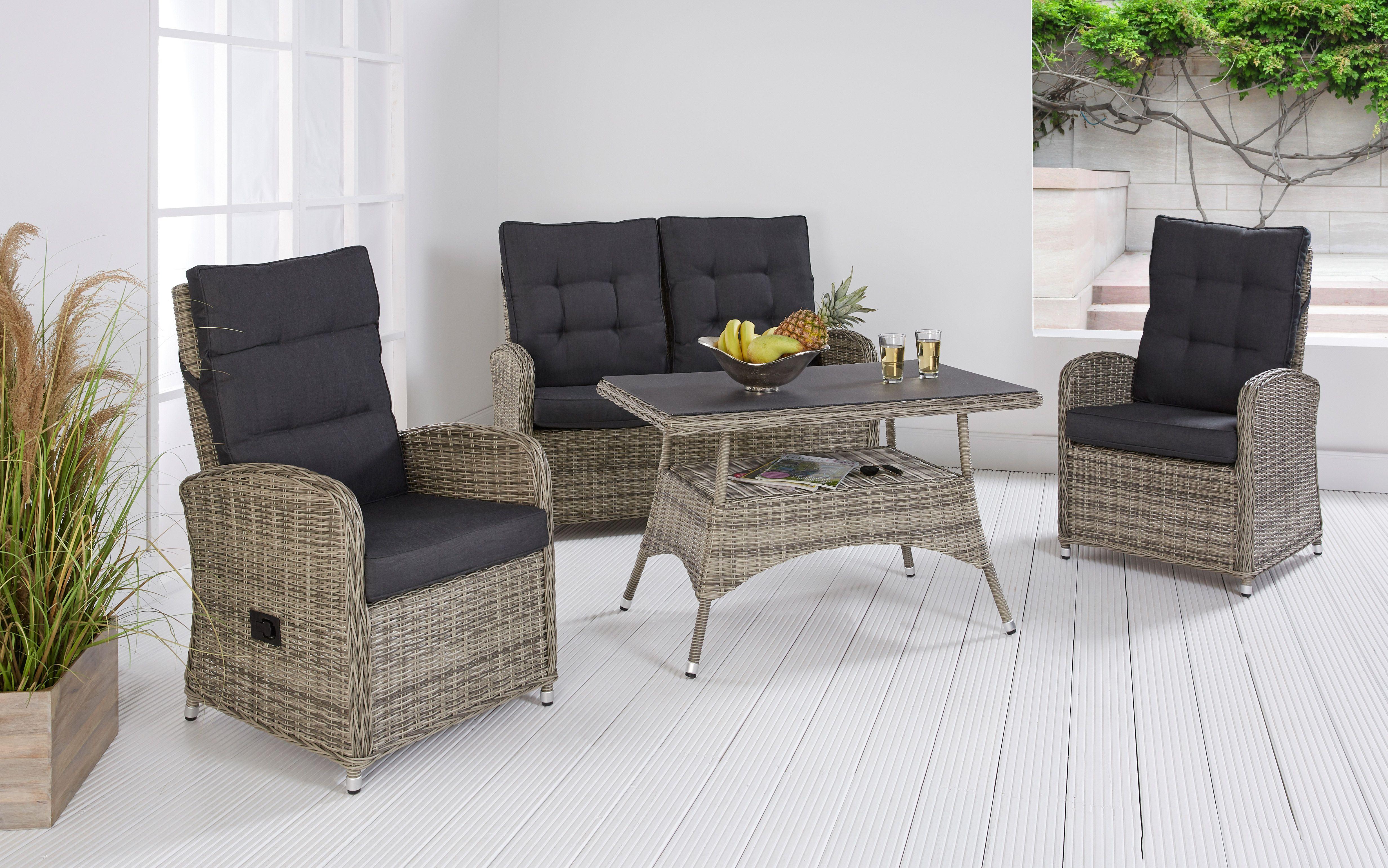 Lc Garden Loungemöbel Sitzgruppe Monaco Grau Lounge Möbel