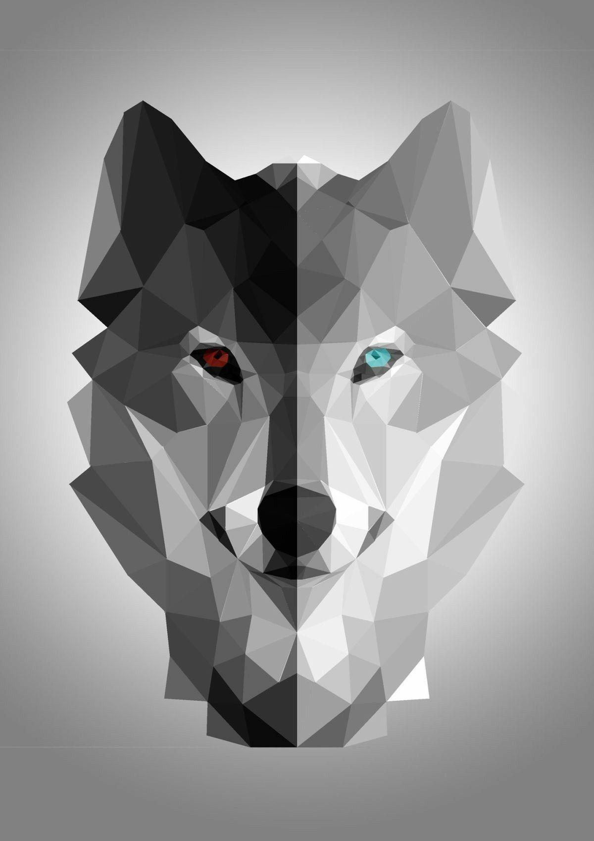 Wolf Geometric Polygon Art iphone case