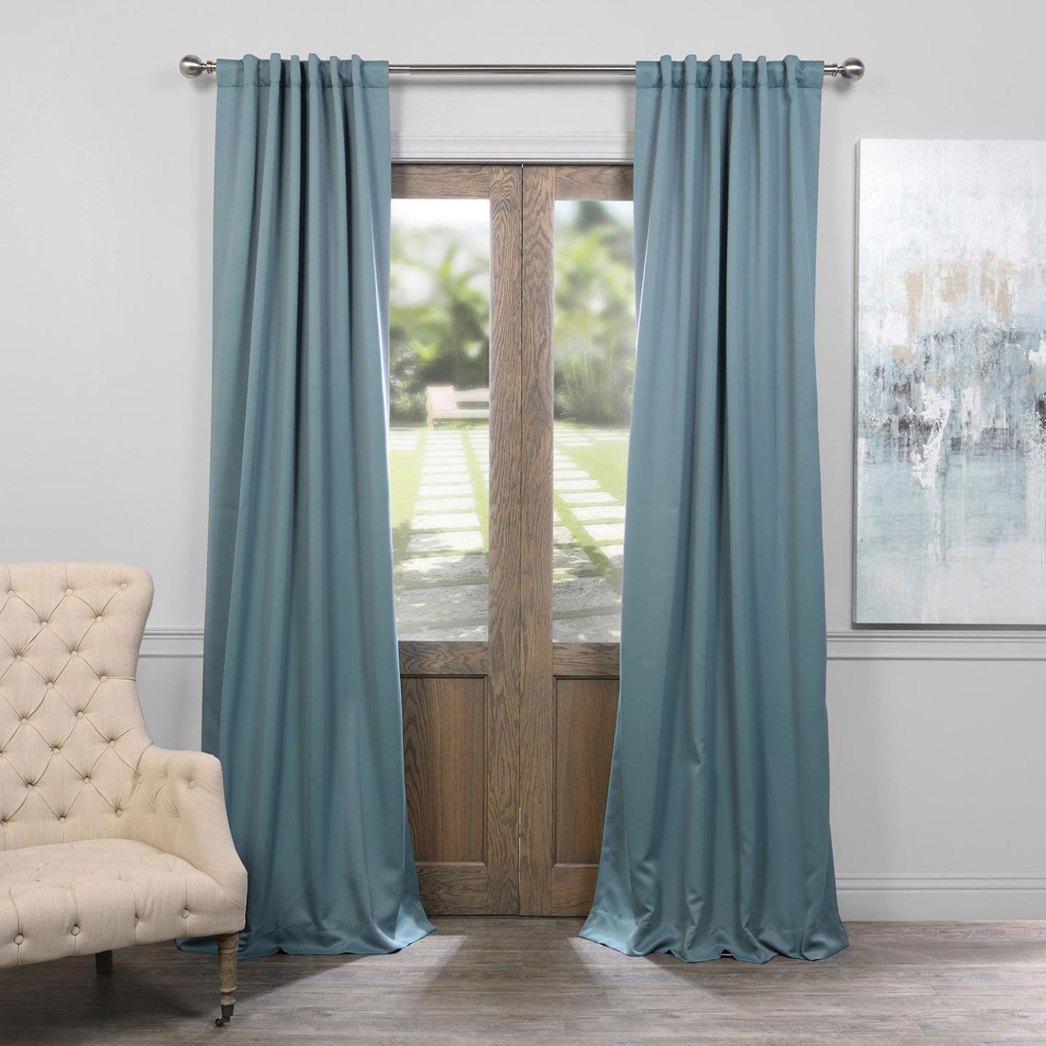 Dragonfly Teal 50 X 120 Inch Blackout Curtain Half Price Drapes Panels
