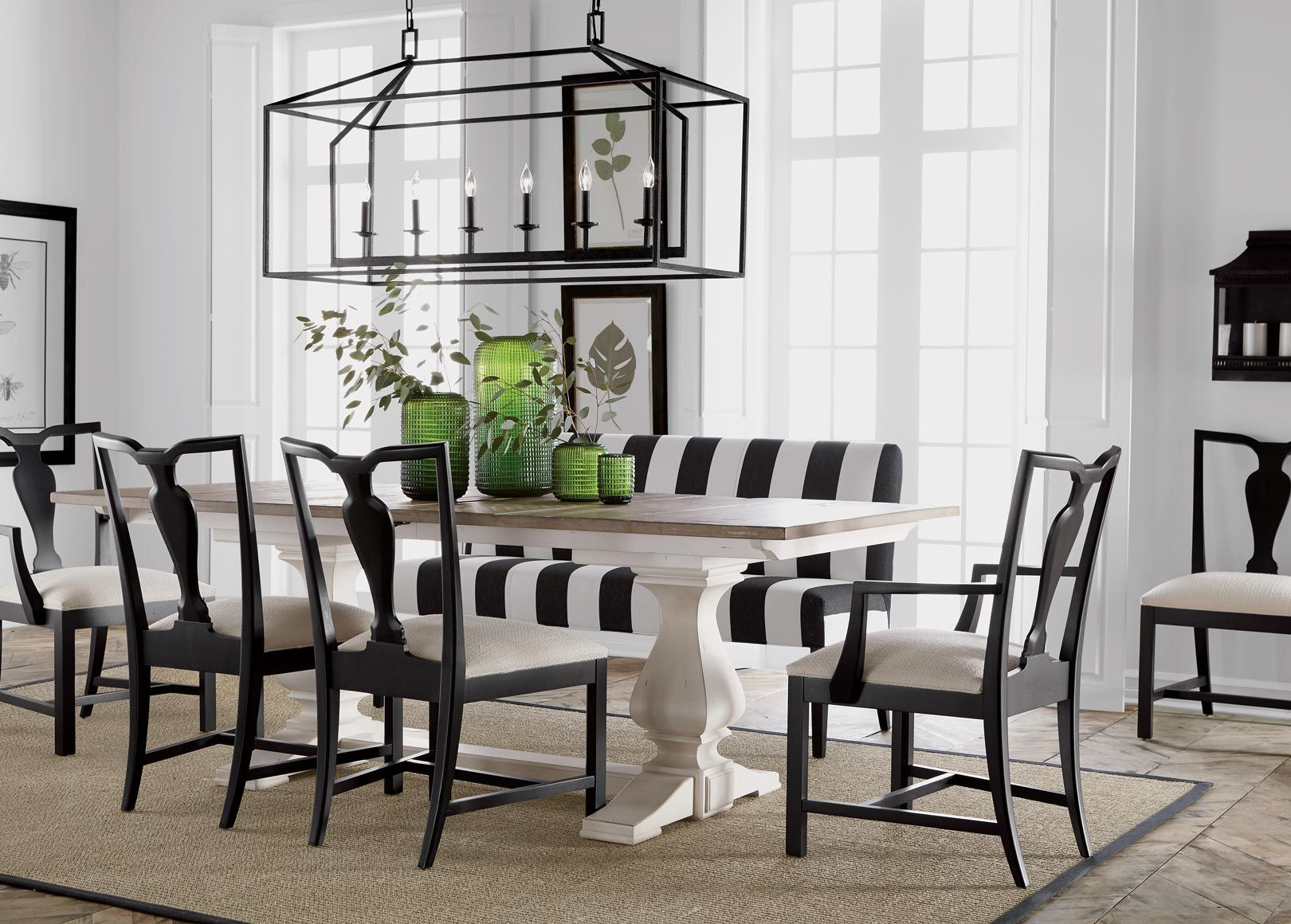 Back To Black And White Dining Room Step Up To Elegance! Our Stately Double  Pedestal