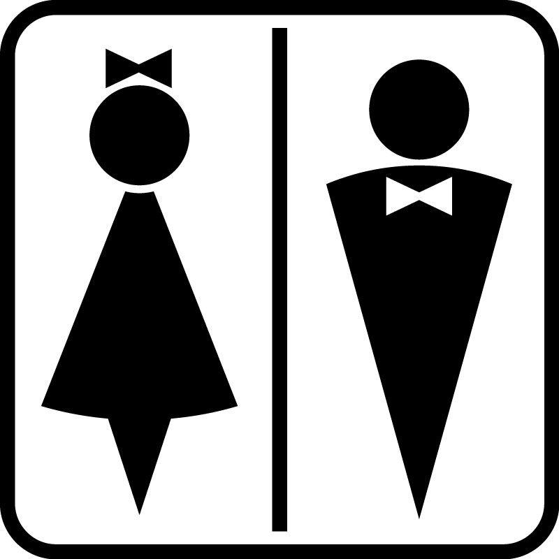 Значок на туалет мужской женский картинки