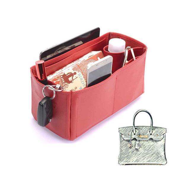 e6e9d8fb555b Birkin 30 Deluxe Leather Handbag Organizer in Red Color