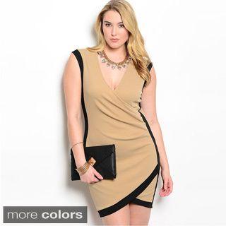 The Trends Women S Plus Size Sleeveless Knit Tulip Hem Short Dress