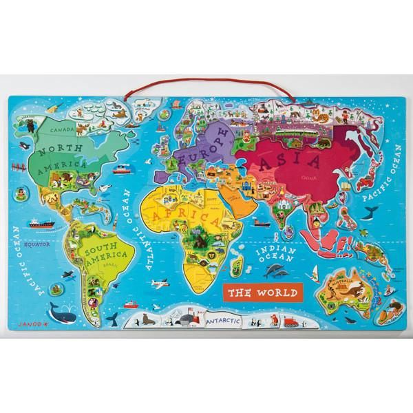 Janod Magic World Map Puzzle: Janod Magnetic Usa Map At Infoasik.co