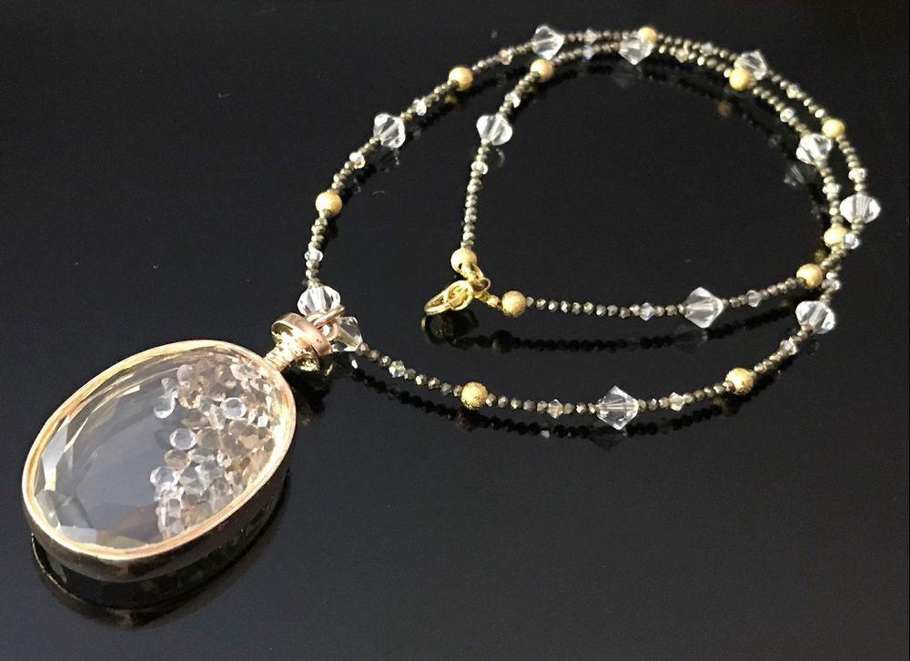 Unikat Pyrit, Swarovski Collier Neu kaufen auf ricardo.ch