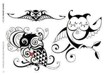 Cute Owls Tattoo Designs   Pinteres